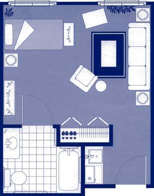 """Studio Floor Plans   19'3"""" x 14'10"""""""