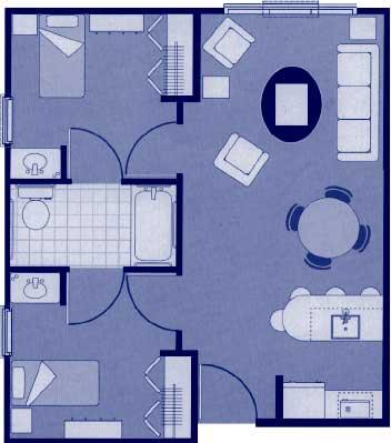 """Two-Bedroom Floor Plans – 29'7"""" x 21'3"""""""